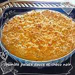 recette tarte patate douce et pepite de chocolat facon crumble