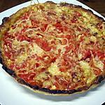 recette Tarte aux tomates à la crème moutarde.