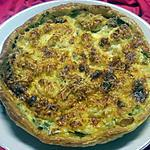 recette Quiche aux poireaux et filet de perche.