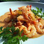 recette Queues de crevettes en colombo