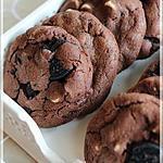recette ~Biscuits triple chocolat aux biscuits Oréo~
