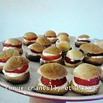 recette mini choux fraise chantilly