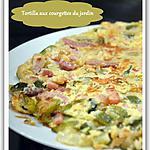recette Tortilla aux courgettes du jardin