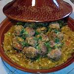 recette tajine champignons, olives et boulettes