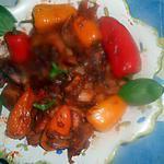 recette Seiches aux petits poivrons