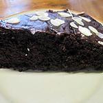 recette Gâteau au chocolat  au coulis de framboises.