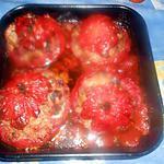 recette Tomates farcies,echine de porc,jambon,comté