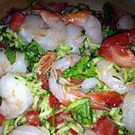 Salade crevette et courgettes