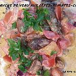 recette Tranches de veau, sauce aux cèpes, tomates et crème.. (39)