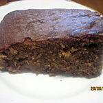 recette Gâteau au chocolat. poires. crème fraiche.
