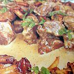 recette Fricassée de veau aux champignons des bois