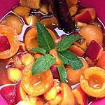 recette salade de fruits au vin et épices