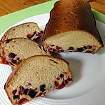 recette CAKE  / PAIN  AUX FRUITS CONFITS a ma façon