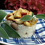 recette Risotto aux champignons et poulet