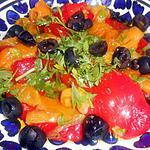 recette SALADE  DE  POIVRONS  GRILLES