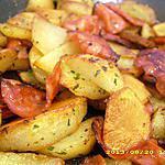 recette poelée de pommes de terre au chorizo