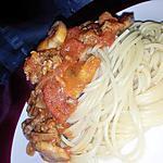 recette Spaghettis sauce à la bolognaise aux petit légumes