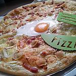 recette Pizza aux ravioles chévre et lardons