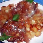 recette Tranche de coeur de veau échalotes,navets glacés