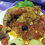 recette Cuisses de pintade à la sauce tomates.