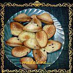recette madeleine  delicieuse aux pepite de chocolat