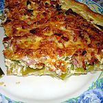 recette Quiche aux poireaux , lardons et gruyère