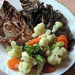 recette Tranches d'agneaux aux légumes