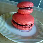 recette Macarons au chocolat noir et framboise