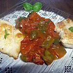recette Escalopes de dinde à la sauce tomates. poivron. basilic.