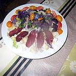 recette assiette gourmande au magret fuméet merci tatie je ne savais ps que la bourrache s utilisait!!j enlevais