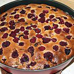 recette Gâteau Framboises/bananes/chocolat