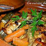 recette Tajine de poulet aux légumes