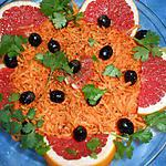 recette Carottes rapées au pamplemousse rose