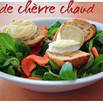 recette Salade chèvre chaud