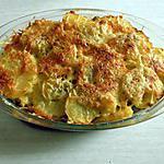 recette Gratin aux pommes de terre et champignons de Paris