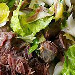 recette Salade de confit de joues de porc