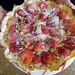 recette tarte cremeuse aux fraises