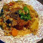recette Couscous Tunisien au colier d'agneau.