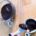 recette MUG CAKE: LE FONDANT AU CHOCOLAT INDIVIDUEL AU MICRO-ONDES.