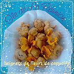 recette beignets de fleur de capucine