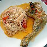 recette cuisses de poulet au paprika et ses vermicelles de riz