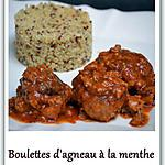 recette Boulettes d'agneau à la menthe