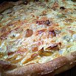 recette Quiche aux poireaux et roquefort