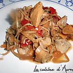 recette Sauté de poulet au légume au wok