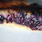 recette Tarte myrtille et crème d'amande