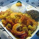 recette Cari aux crevettes .Réunionnais.