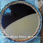 recette tarte chocolat blanc et noir