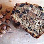 recette Cake rustique à la farine de chataîgne, aux noisettes et aux pépites de chocolat