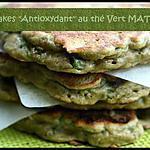 recette ** Pancakes antioxydants : petit pois , thé vert  Matcha, noix de cajou et menthe ... tout vert **