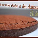 recette ** Etonnant Gâteau/ fondant  au chocolat épicé , aux pois chiches juste sucré avec des dattes....plaisir & nutrition  **